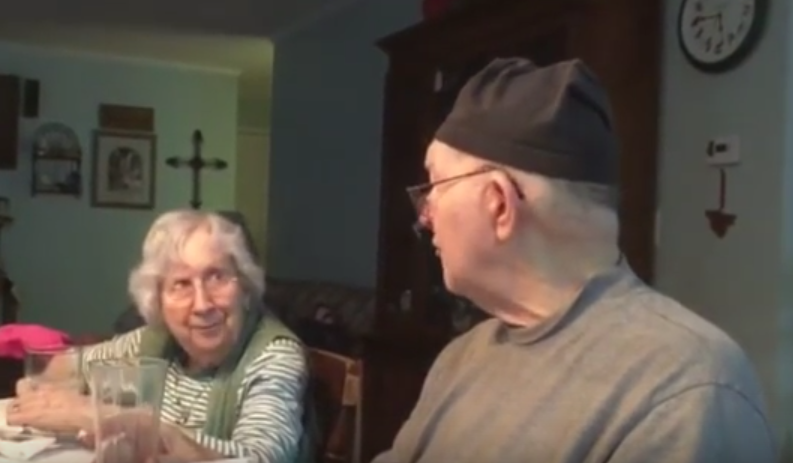 And now here's an elderly man serenading his wife with a love song, in case you wanted your heart to explode