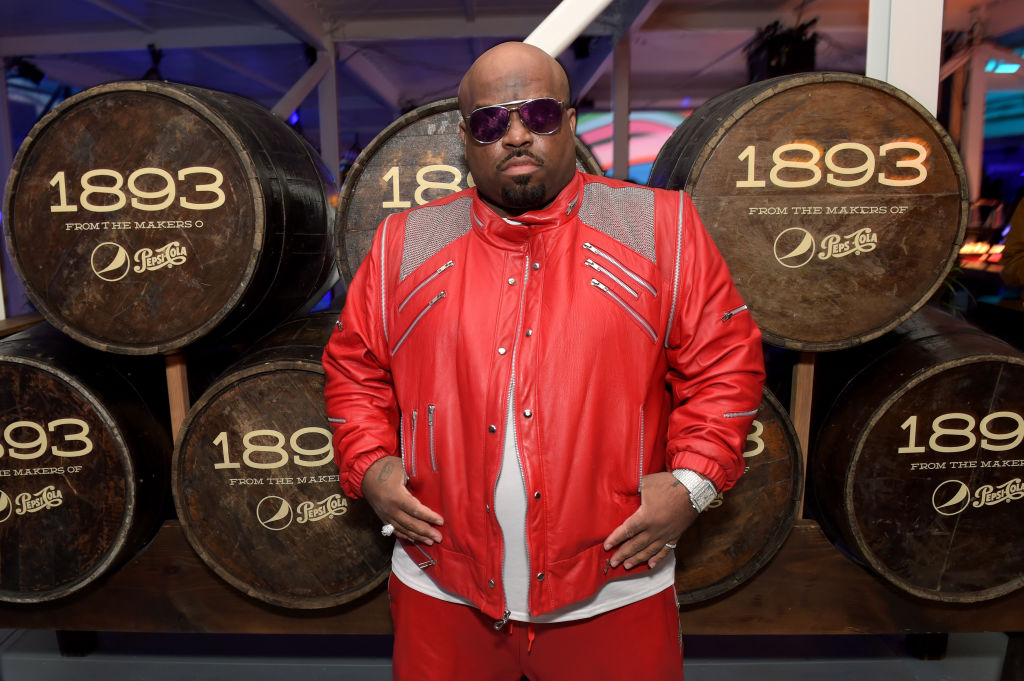 Cee-Lo Green is at the Grammys dressed as a gold robot from head to toe, because he's Cee-Lo