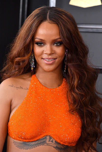 Rihanna Looks Like A Gothic Tulip In Her Orange Bra Top