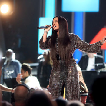 Watch Demi Lovato lead the Bee Gees tribute like a perfect '70s disco kween