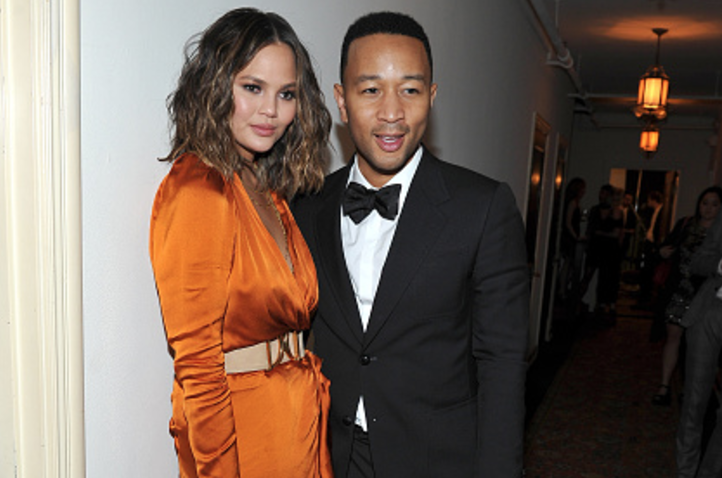John Legend taking Chrissy Teigen's jewelry off after the Grammys is tipsy couple goals