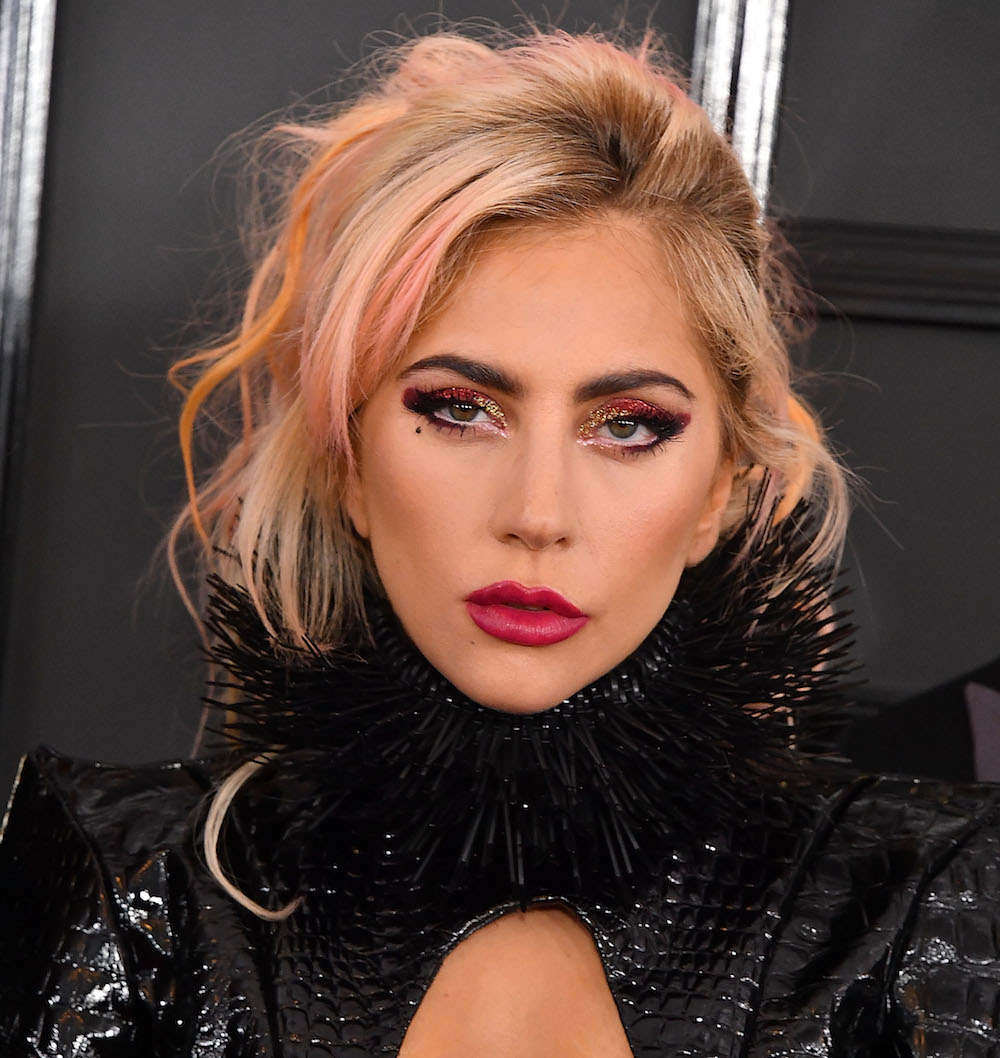 Lady Gaga rocked fire engine red eye makeup at the Grammys ... Lady Gaga