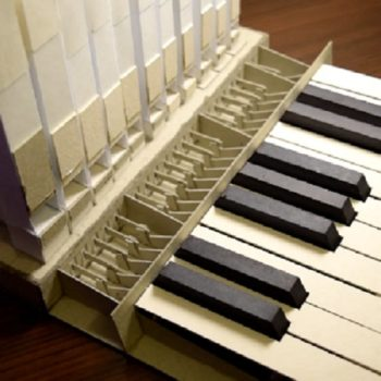This pipe organ is made entirely out of paper, and it's absolutely incredible