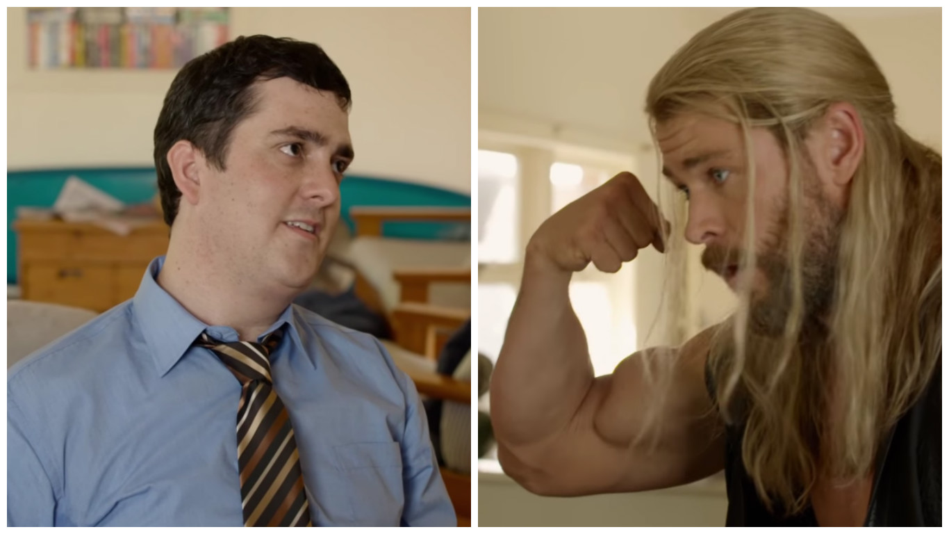 Just like us, Thor and his best friend, non-super hero roommate Darryl have rent issues