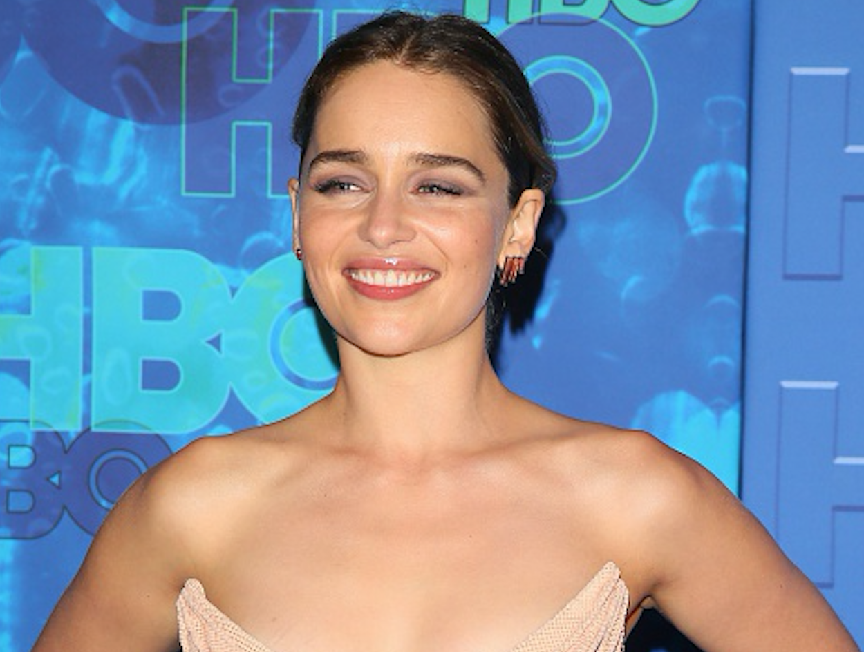Emilia Clarke accidentally dressed for Valentine's Day and we can easily buy part of her look