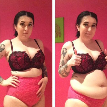 This woman's two photos demonstrate that shapewear doesn't equal body-confidence (or comfort)