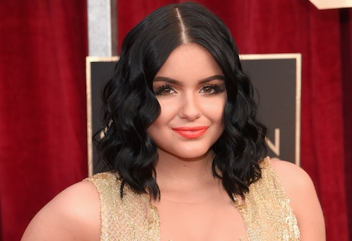 Forget red: Ariel Winter's sheer, black and white Valentine's Day outfit is where it's at