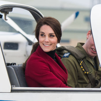 Kate Middleton's red coat with gold buttons is exactly what our February wardrobe needs