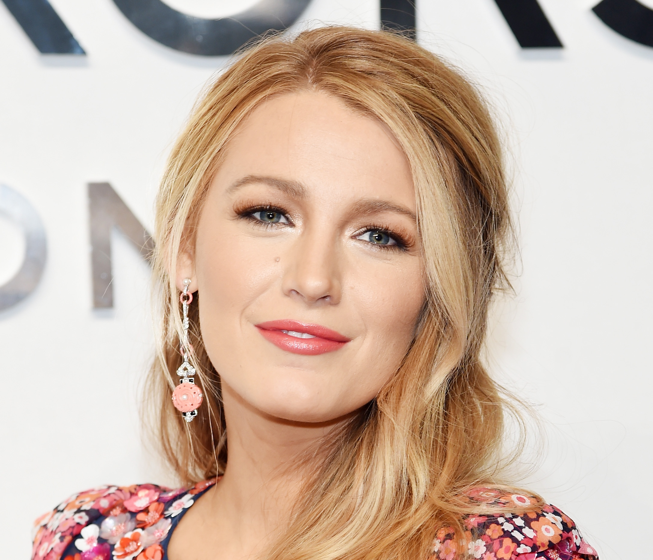 Blake Lively is bringing the '60s back in this psychedelic springtime dress