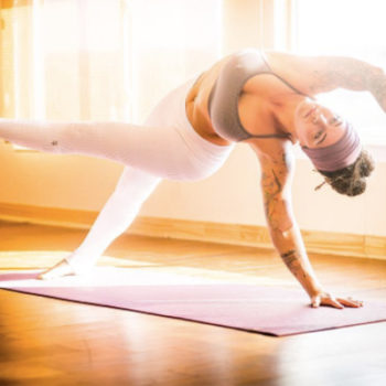 This badass yoga instructor makes a statement while free bleeding during her practice