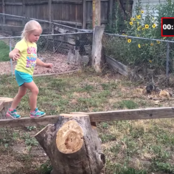 "This dad made an ""American Ninja Warrior"" course for his 5-year-old daughter to teach her how to be confident"