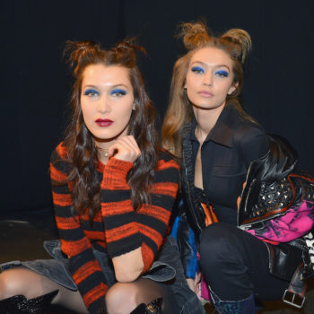 Pat McGrath teased a divine blue eyeshadow, and the Hadid sisters just rocked it on the runway
