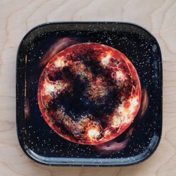 These plates and cups with galaxy scenes painted on them will turn your kitchen into a celestial wonderland