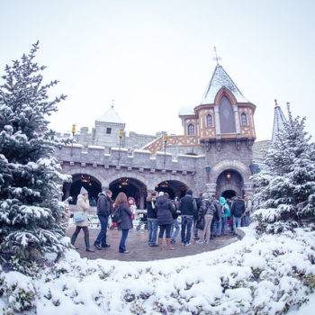 Disneyland Paris looks absolutely stunning covered in actual snow