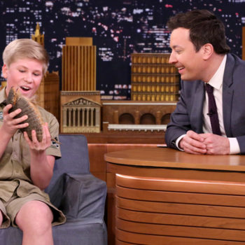 Jimmy Fallon just freaked out over how much the Crocodile Hunter's son is following in his dad's footsteps