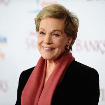 """Julie Andrews taught Stephen Colbert how to be picture perfect by saying one surprising word, and, no, it's not """"cheese"""""""