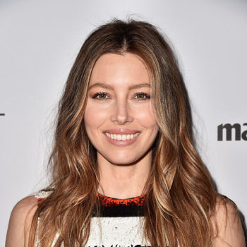 Jessica Biel just literally tasted the rainbow in this incredible photo