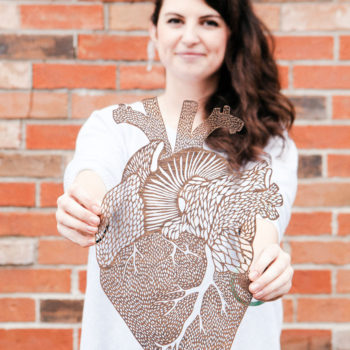 This artist cuts delicate organs out of paper, and we're completely in love with them