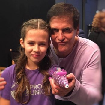 "This 11-year-old girl just blew us away by building her own, glittery prosthetic and taking it to ""Shark Tank"""