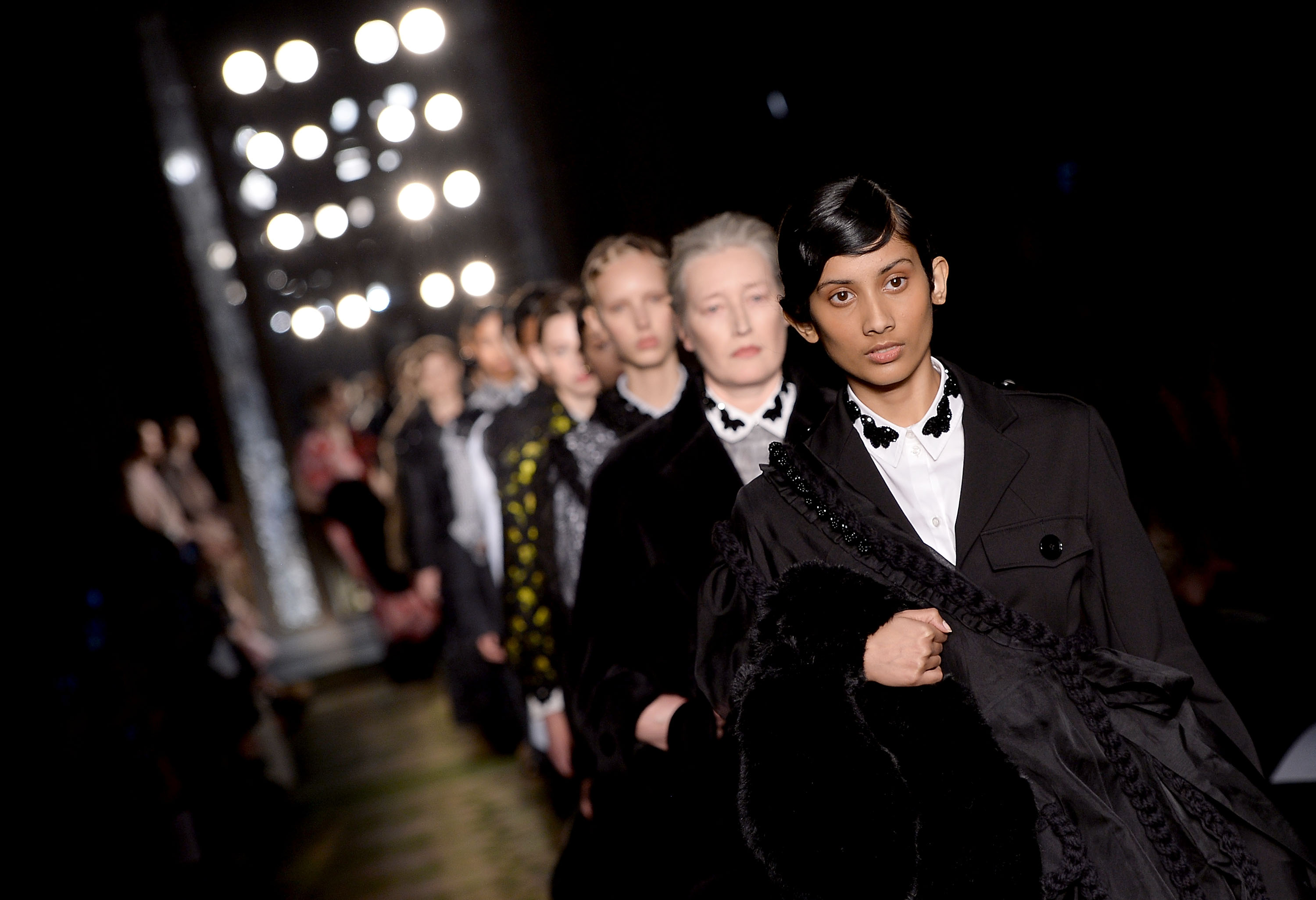 Simone Rocha cast models of all ages at London Fashion Week, because beauty doesn't retire