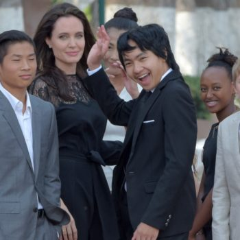 Angelina Jolie and her kids met Cambodian royalty at a movie premiere, because that's just their life