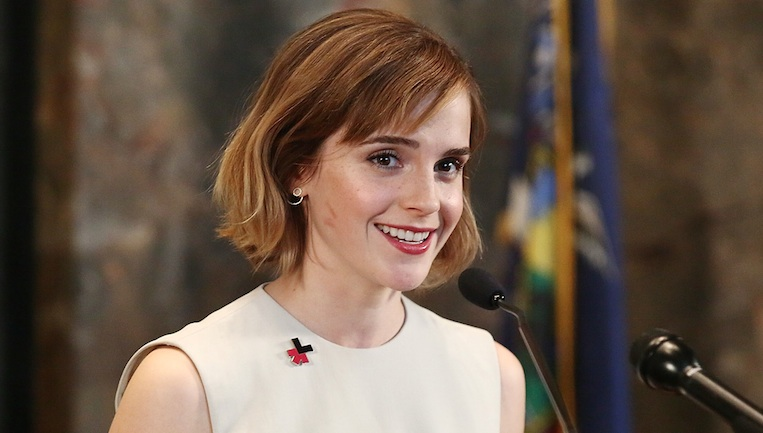 "Emma Watson's red sash and floral halter top at this ""Beauty and the Beast"" screening were so casually elegant"