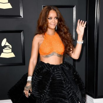 Rihanna's manicurist revealed the singer's surprising Grammy-worthy nail routine