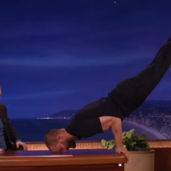 """Try to remain calm, but Justin Trudeau can do a pommel horse just like Jamie Dornan in """"Fifty Shades Darker"""""""