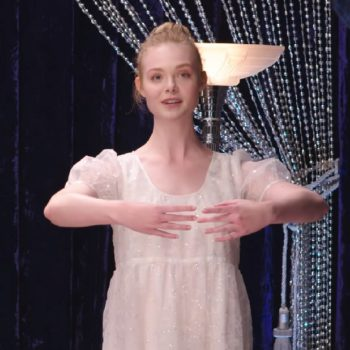 Elle Fanning teaches us ballet in this super impressive video