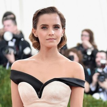 Emma Watson's blue cut-out dress is like an actual piece of modern art