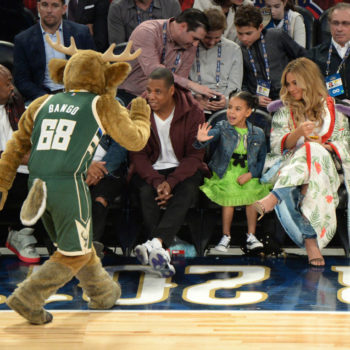 Blue Ivy wore an $1,800 Gucci dress to a damn basketball game, guys
