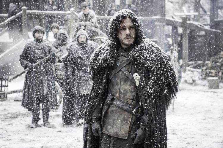 "Winter is here for the ""Game of Thrones"" cast, who is enduring some intensely cold weather"