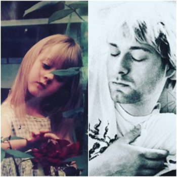 Courtney Love posted a photo of baby Frances Bean Cobain, and she looks exactly like her dad