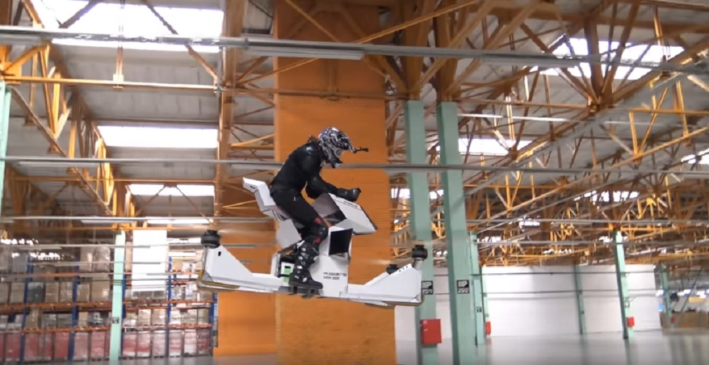 This footage of the world's first hoverbike is as insane as it sounds, and we definitely want one