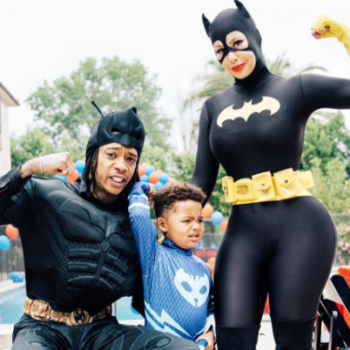 Amber Rose and Wiz Khalifa dressed up as Batgirl and Batman for their son's birthday party, are #familygoals