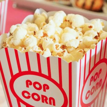 The menu at the official Oscar's after party literally features gold-dusted popcorn