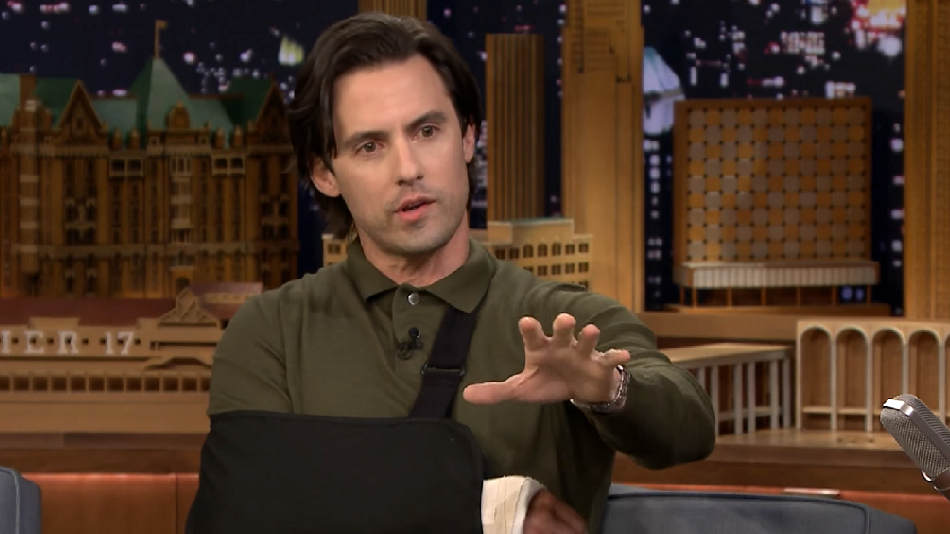 Milo Ventimiglia explained his very prominent arm cast