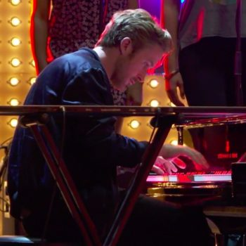 This BTS video shows Ryan Gosling masterfully playing the piano without any editing