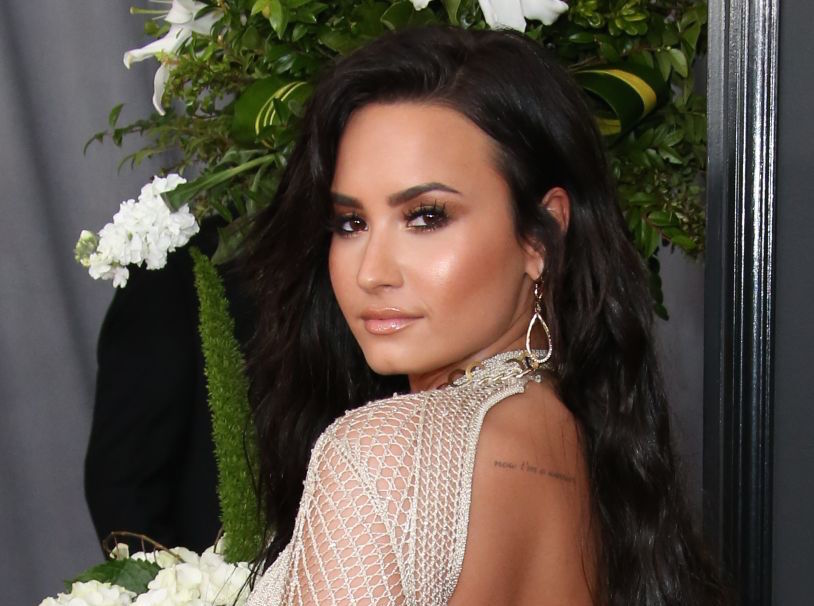 Demi Lovato gets real about wearing a see-through red carpet dress in front of her dad