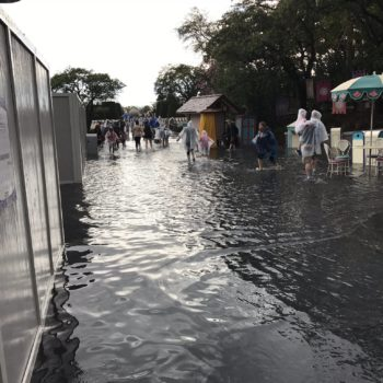 It rained so hard at Disney World, Magic Kingdom actually flooded