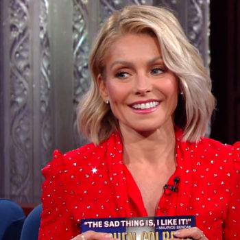 Kelly Ripa's son got in trouble at school, and it involves Stephen Colbert and a stripper pole