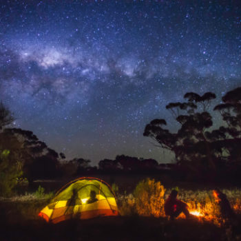If you're having trouble sleeping, a weekend of camping could be the cure
