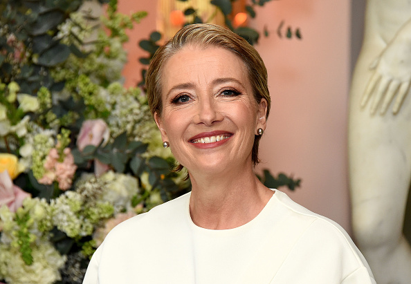 """Emma Thompson is living her best life on the """"Beauty and the Beast"""" red carpet"""