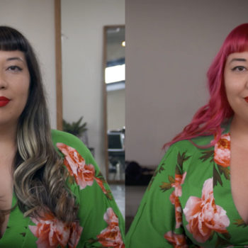 Hair Transformation: Brunette to Pink