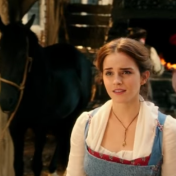 "OMG! Is there a sneaky ""Harry Potter"" reference in this ""Beauty and the Beast"" clip?"
