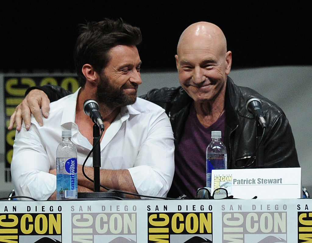 Please do watch Hugh Jackman totally lose it when Patrick Stewart discusses a very awkward topic