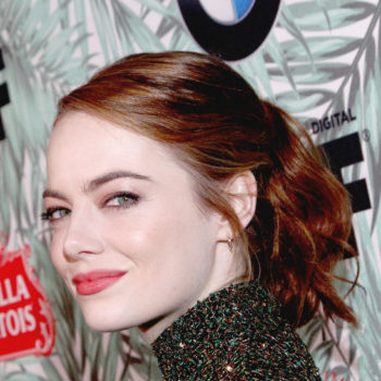 Emma Stone's green, glittery two-piece is what a super-chic Elphaba would wear