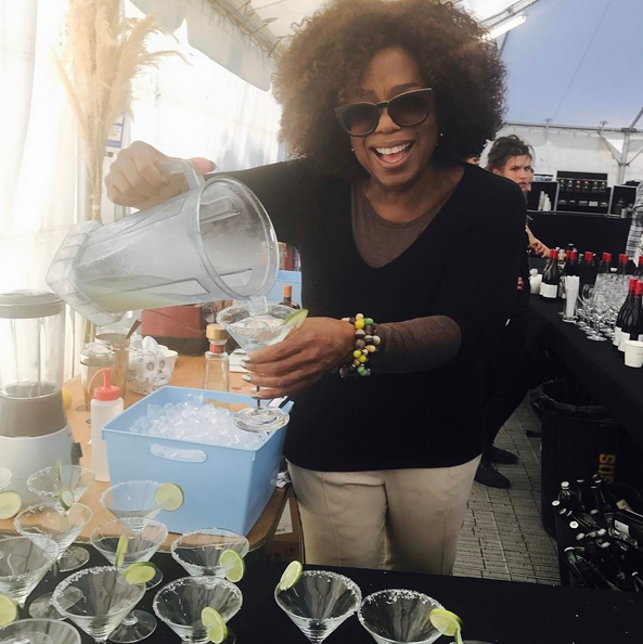Mindy Kaling had a totally understandable response when Oprah started making margaritas