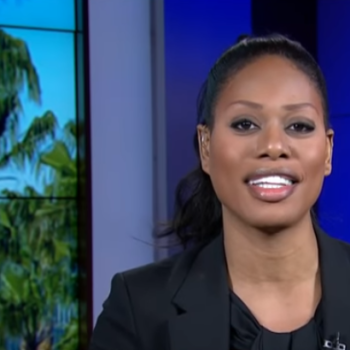 Laverne Cox remained beautifully eloquent while responding to a transphobic man on live TV