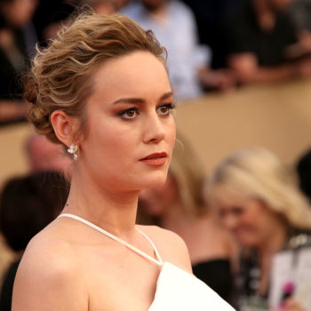 Brie Larson's funky all-white dress is giving us trendy wedding dress goals